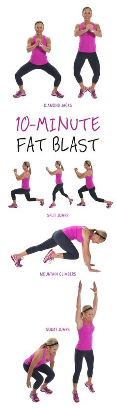 A challenging workout is all you need to get your heart rate elevated and burn calories! Fitness Diet, Fitness Motivation, Workout Fitness, Lose Fat Workout, 10 Minute Workout, Burn Belly Fat Fast, Fat Loss Diet, Along The Way, Easy Workouts