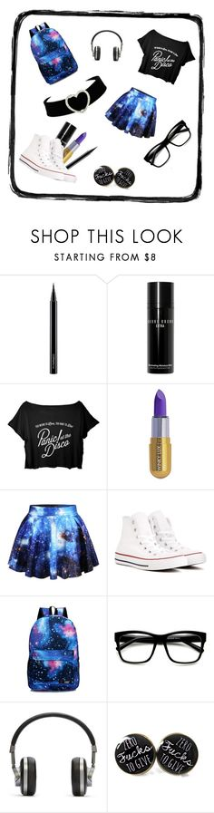 """Panic! At The Disco"" by vfrio ❤ liked on Polyvore featuring MAC Cosmetics, Bobbi Brown Cosmetics, Winky Lux, WithChic, Converse, ZeroUV and Master & Dynamic"