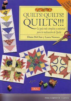 QUILTS! QUILTS!! QUILTS!!! - Majalbarraque M. - Picasa Web Albums Big Block Quilts, Small Quilts, Bargello Quilts, Rag Quilt, Book Crafts, Hobbies And Crafts, Craft Books, Quilting Projects, Sewing Projects