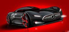 Mercedes-Benz AMG Gran Turismo concept sketch by Davis Lee (2013)