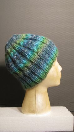 Knit Beanie Pattern Worsted Weight : Instant Download Knitted Hat Pattern Alex, Mens Winter ...