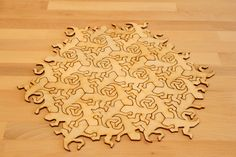 Escher Gecko Tesselating Pieces 4 dozen by DangerAwesomeLasers, $30.00