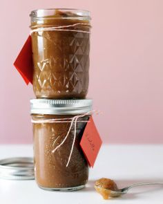 Slow-Cooker Pear and Apple Butter  -- makes a great little Christmas gift.