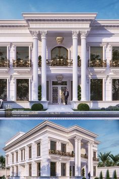 Classic House Exterior, Modern Exterior House Designs, Classic House Design, Exterior Design, House Outside Design, House Front Design, Village House Design, Bungalow House Design, Architecture Building Design