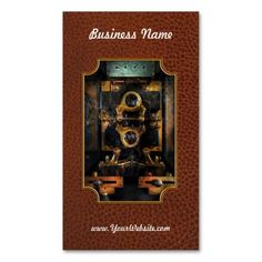 Steampunk - Electrical - The power meter Business Card Template