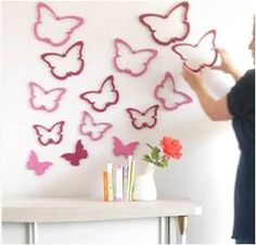 Decorating Nursery Walls with 3D Paintable Fish or Butterflies, 314x302 in 12.4KB