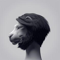 Afro Lion by MountStar , via Behance