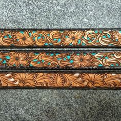Three more out the door today #tannercustomleather #tannerbelts #filigree…