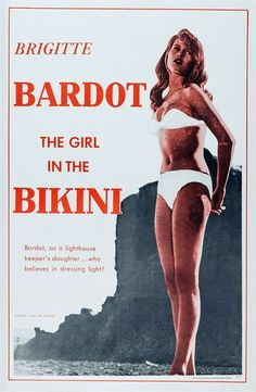 Brigitte Bardot solidified herself as a sex symbol in the 1952 aptly-titled film, 'The Girl in a Bikini. Brigitte Bardot Films, Pin Up, Josephine Baker, Vintage Swimsuits, Polka Dot Bikini, French Actress, Cary Grant, Classic Movies, Movies
