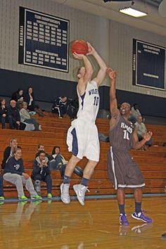 Corey McGowan raises up for the shot against Wilbur Wright College.