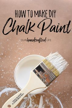 The Best DIY Chalk Paint Recipe, DIY and Crafts, DIY Chalk Paint - Our Handcrafted Life Make your own DIY chalk paint using Plaster of Paris, water, and flat latex paint using this simple recipe. Best Chalk Paint, Diy Chalk Paint Recipe, Homemade Chalk Paint, Chalk Paint Projects, Chalk Paint Furniture, Diy Projects, Chalky Paint, Furniture Wax, Furniture Refinishing