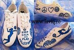 Tenisi pictati manual, in culori textile - Volleyball     www.laviq.ro www.facebook.com/pages/LaviQ/206808016028814 Keds, Volleyball, Manual, Racing, Facebook, Sneakers, Shoes, Fashion, Trainers