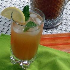 "Mint Tea Punch. ""Tea, mint, sugar, orange and lemon juices make this a quick and easy, refreshingly delicious drink on a hot summer's day, given to me by a true Southern lady. Goes great with Cajun or spicy foods too. Every time I serve this someone asks me for the recipe!"" — MCBARTKO"