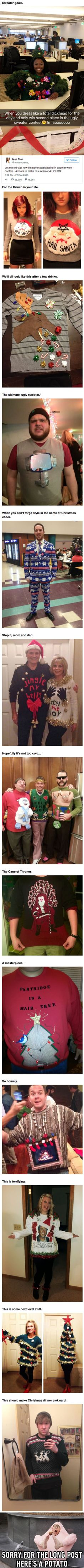 13 People Who Took Ugly Christmas Sweaters To The Next Level