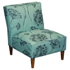 Lovely accent chair for either bedroom or living room.