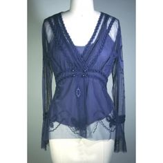 Saphire Blue Lace Sheet Jacket/Top. On sale for only$49. Size M only