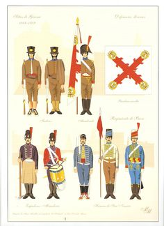 Regno di Spagna - Regiment of Baza, Sapper and Mining Corps & Hussars of San Narciso.