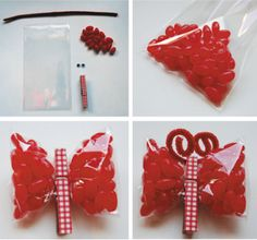 party favors, butterflies, candi, relief society, party favours