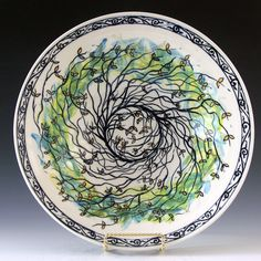 Ceramic and pottery porcelain art bowl for serving and decoration. $205.00, via Etsy.
