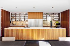 Love the open shelving Open Shelving, Shelves, Skylight, Interior Design Inspiration, Home Kitchens, Liquor Cabinet, Photo Galleries, Home And Family, Architecture