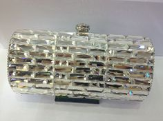 Gorgeous CRYSTAL wedding party clutch bridal purse.  via Etsy.