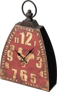 Kettle Bell Mantel Clock Red