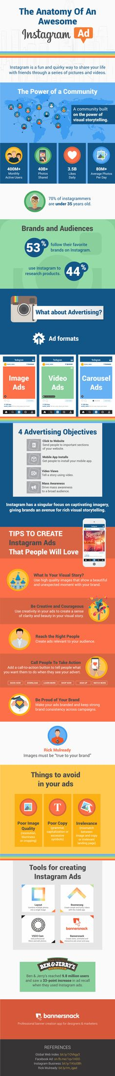 #Infographic - Create the best #ads on #instagram