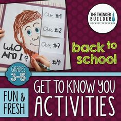 Begin the year with some fun and fresh back to school activities to help your students get to know each other during the first weeks of school! These seven back-to-school activities, geared toward students in grades 3 through 5, are engaging and interactive!