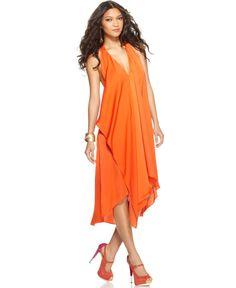 LOVE!!!!  BCBGMAXAZRIA Dress, Sleeveless V-Neck Ruffle A-Line - Womens BCBGMAXAZRIA - Macy's
