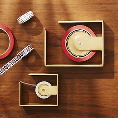 Solid Brass Studio Tape Dispensers /