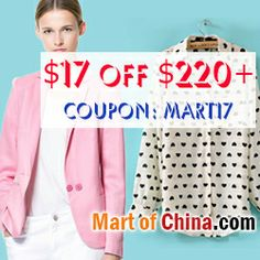 $17 Off Order $220+ at Martofchina.com with Coupon: mart17 Discount Womens Clothing, Coupons, Brides, Women's Fashion, Clothes For Women, Book, Amazing, Inspiration, Style
