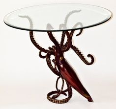 Bronze Giant Squid dining table by Kirk McGuire Sculpture on Etsy, a global handmade and vintage marketplace.