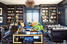 November 2014 Architectural Digest & Actress Ellen Pompeo's Los Feliz residence Before & After Article