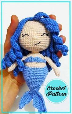 Crochet Teddy, Crochet Fox, Free Crochet, Crochet Dolls Free Patterns, Christmas Crochet Patterns, Crochet Ideas, Little Mermaid Crochet, Crochet For Kids, Amigurumi Doll