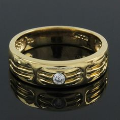 18K Yellow Gold Over 0.10ct Round Cut VVS Diamond Fashion Ring O778 #FashionRing