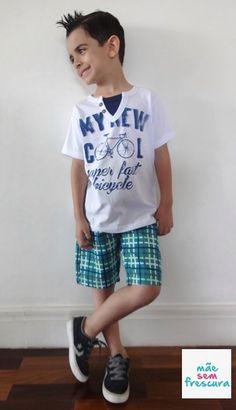 Verão com Looks Descolados e Confortáveis para Meninos - Elian Alto Verão – Mãe Sem Frescura