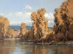 """""""Wyoming Autumn,"""" by Scott L. Christensen, one of the many fine artists participating in the Plein Air Convention & Expo, April 10-14, 2013. http://www.pleinairconvention.com/"""