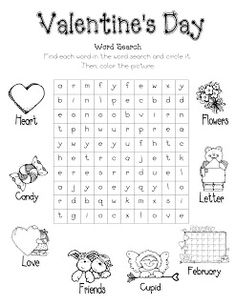 "Valentine word search - ""In Search of a Valentine."" Customize a word search to include each child's name. Be sure to do this activity soon enough that it can be sent home with children as the class list for Valentines. Valentines Word Search, Valentines Day Words, Valentines Day Party, Valentine Day Crafts, Valentinstag Party, Valentines Day Activities, Holiday Activities, Fun Activities, Saint Valentine"