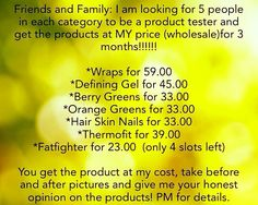Tester needed!!! Message me for more info!! 812.455.0440
