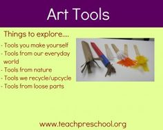 Discovering a variety of unique tools that can be used for the art experience in preschool!