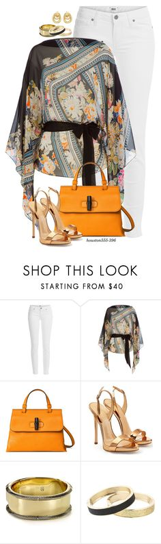 """Kim"" by houston555-396 ❤ liked on Polyvore featuring Paige Denim, Roberto Cavalli, Gucci, Giuseppe Zanotti, House of Harlow 1960, Betsey Johnson and Lord & Taylor"