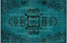 Lily Rug, Turquoise on One Kings Lane | The Decorating Diva, LLC