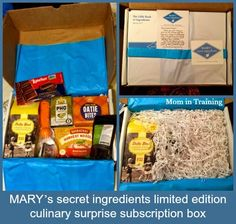 Mom in Training: Try something new and unique with MARY's secret ingredients subscription box