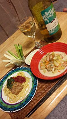 お酒好きの簡単酒の肴♪ 夜の晩酌を楽しみに、毎日料理してまーす - 1件のもぐもぐ - 梅しそ納豆パスタ あさりとベーコンのチャウダー きゅうり&チーズスティック by tkoujirisaf69