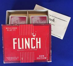 Flinch Card Game Vintage 1938 Complete Parker Brothers Made in United States #ParkerBrothers