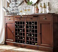 dining room pottery barn modular bar buffet with 2 wine bases 2 cabinets