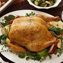 Holiday Roast Chicken And Stuffing - You don't have to wait for the holidays to serve a special meal. Roast chicken and stuffing makes any meal a celebration. Chicken Roaster, Easy Roast Chicken, Ginger Chicken, Roasted Chicken, Fresh Meat, Holiday Recipes, Holiday Meals, Stuffed Whole Chicken, The Fresh