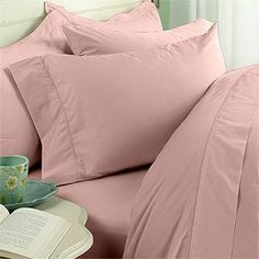 """8PC Full 600 Thread Count Bed in a Bag - Pink Solid Sheet, Duvet & Down Comforter by Egyptian Bedding. $249.99. 1 Flat Sheet (86"""" x 96""""), 1 Fitted Sheet (54"""" x 75"""") and 2 Standard Pillow Cases (20"""" x 30""""). Luxury White Siberian Goose Down Comforter (86X86 Inches). Brand New and Factory Sealed.. True baffle box design to keep the down in place. Beautiful Duvet Set (1 Duvet Cover, 2 Shams). This Luxury 8-Piece Bed in a Bag Siberian Goose Down Comforter Set consists o..."""