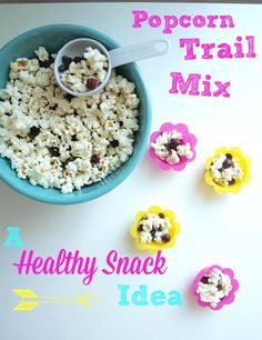 Popcorn Trail Mix: a healthy after school snack idea.