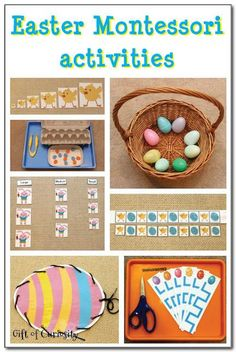 Check out these great preschool and kindergarten Easter Montessori learning ideas. #kbn #Montessori #Easter || Gift of Curiosity